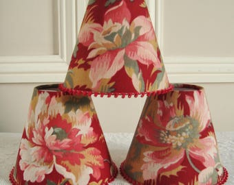 A 1900's antique French fabric candle lampshade 11 x 13 cm / 4.3 x 5.1 ins for Wall Light, sconce or ceiling chandelier