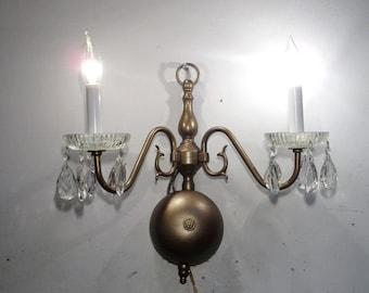Vintage Sconce Single 2 Light Federal Style