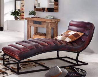 Hypnosis Lounger Brown Distressed Leather Chair