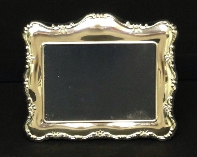 Storewide 25% Off SALE Vintage English Carr's Of Sheffield Sterling Silver Louis Style Picture Frame (1) Featuring Elegant Royal Crown Garla