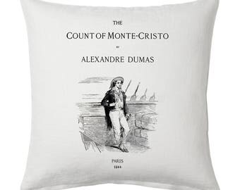 The Count of Monte Cristo Pillow Cover, Book pillow cover.