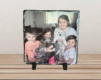 Personalised Photo Slate-20x20cm, Personalised gift, Slate, Wedding gift, Anniversary gift, Birthday gift, Christmas gift, Photo gift