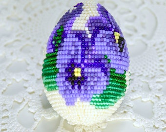 Easter gifts etsy beaded egg easter beaded egg souvenir beaded egg handmade egg collectible eggs negle Images