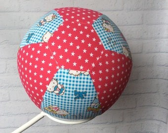 BALLOON BALL Cover..Handmade Cotton Fabric..Educational.. Sensory Play.. Special Needs Autism..Bouncy..Great Gift Idea.. Girls.. Hello Kitty