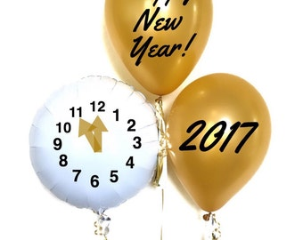 New Year's Eve Balloon Decal Clock Balloons New Year's Eve Party Balloons New Year's Eve Clock Balloons New Years Balloons New Years Party
