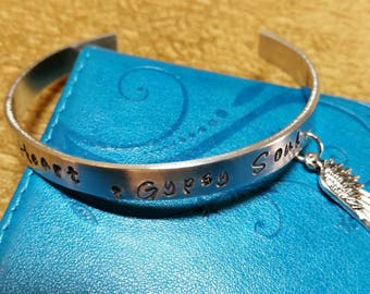 Wild Heart - Gypsy Soul  Cuff Charm Bracelet
