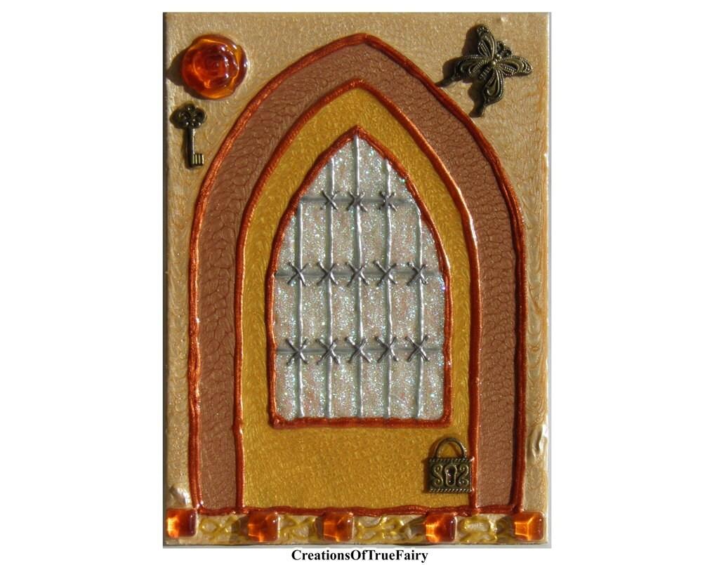 Gifts For Kids Yellow Fairy Door Magic Pixi Portal Fairies