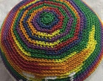 Hand crochet Bris kippah personalized