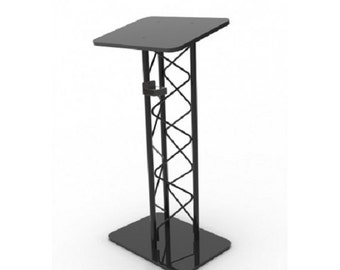 Fixture Displays® Truss Metal And Wood Podium Pulpit Lectern With A Cup Holder 11566-H