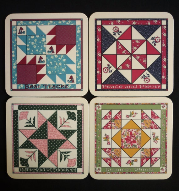 Quilt Block Coaster Set