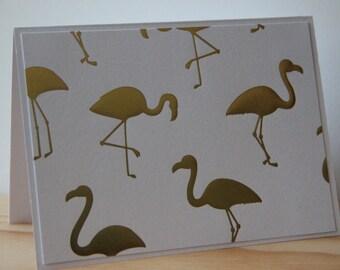 6 Flamingo Note Cards. Gold Foil Flamingo Card Set. Party Invitations. Flamingo Thank You Cards. Flamingo Stationery Gift Set. Florida Cards