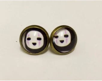 Spirited away no face Naonasbi mask man studs earring studio ghibli