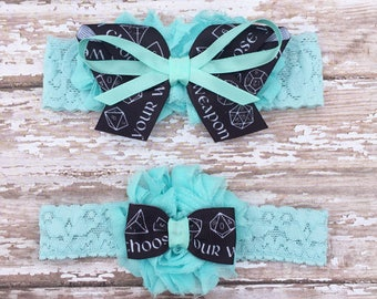 Dice Game Garter Set | Something Blue Dice Wedding Garters | Bridal Garter and Toss Garter