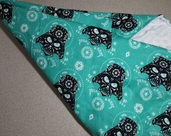 Darth Vadar Sugar Skull Minky Blanket / Choose Size & Color / Star Wars Day of the Dead / Baby Toddler Child Shower Gift / Geek Nerd