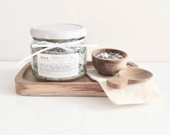 BATH SALTS Lavender & Lime | Me Time | O r g a n i c Flowers and Essential Oils | Natural Bath Salts | Relax | Soothe | Calm |
