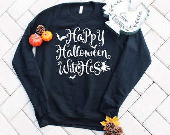 happy halloween witches crewneck halloween sweatshirt funny halloween sweater