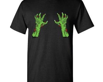 Zombie Hands Men T-shirt Shirt Funny Scary Halloween Gift Men's Tees Tshirt
