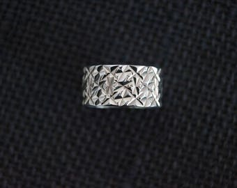 Vintage Sterling Silver Ring - Chunky Silver Ring - Vintage Silver Ring - Vintage Chunky Ring - Vintage Silver Ring - Size Q 1/2 or 8 1/2