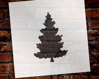 Christmas Shapes Stencil - Spruce Tree - Select Size - STCL1562 - by StudioR12