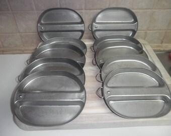 10 Vintage 7 3/4 inch USGI mess kit stainless steel bowl or plate
