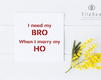 Funny Best Man Card / Best Man Card / Will You Be My Best Man? / Humorous Best Man Card / Funny Wedding Card / Elle Bee