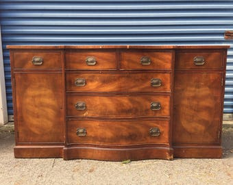 Vintage Mahogany Henredon Heritage Buffet Credenza Dresser