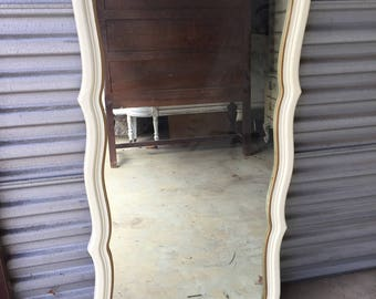 Tall single french mirror