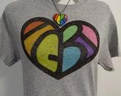 LGBT Shirt - Hidden Message - LGBT Pride Shirt - Rainbow Heart - Gay Pride Shirt - Equality Shirt - Rainbow Shirt - Vintage Style Clothing