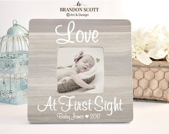 Love at first sight, sonogram frame, pregnancy frame, ultrasound frame, new baby frame, pregnancy reveal, gender reveal, baby shower gift