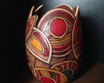 Gourd Art; Abstract; Free Shipping