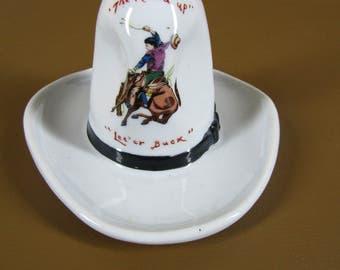 CLEARANCE Vintage 10 gallon cowboy hat ashtray Kikusui made in Japan
