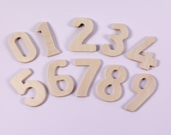 Wooden Number Stencils Large Zero to Nine Number Templates Pack of 10