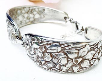Spoon Jewelry, Spoon Bracelet, Silver Spoon Bracelet, Sterling  Silver Band, Vintage Jewelry, Spoon  Jewellery, Antique Spoon Bracelet