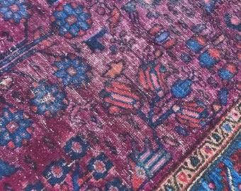 "3'8""x6'2"" Antique Persian Sarouk Rug"