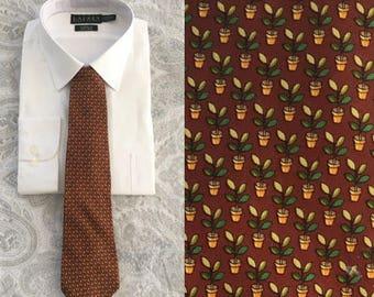 Salvatore Ferragamo Silk Tie, Vintage Silk Tie, Mens Tie, Vintage Tie, Salvatore Ferragamo