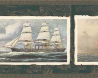 Ships Boats FS73754 Wallpaper Border