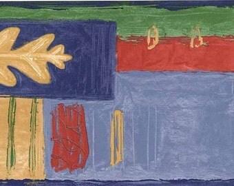 Blue Green Abstract FT17173 Wallpaper Border