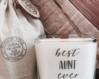 Soy Candle / Best Aunt Ever / Best Aunt Gifts / Gifts For Aunt / Candle With Message / Aunt Birthday Gifts