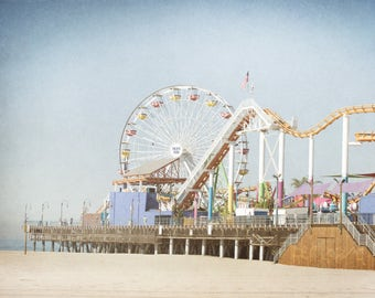 California Photography - Santa Monica - Los Angeles Wall Art - Carnival Photography - Carnival Decor -- Santa Monica Art