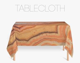 Nature Texture Tablecloth, Mineral Tablecloth, Fabric Tablecloths, Orange Decoration, Kitchen Decor