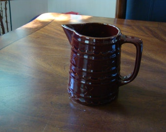 Marcrest DOT AND DAISY Colorado Brown Milk Jug Pitcher!