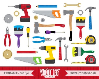 Tools Clipart Set, Hardware Clipart, Construction Tools Clip Art set of 27 by VectoryClipart