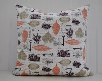 Fall Pillow Cover | Autumn Pillow Cover | Fall Leaves Pillow Cover | Throw Pillow | Fall Home Decor | Zipper Closure