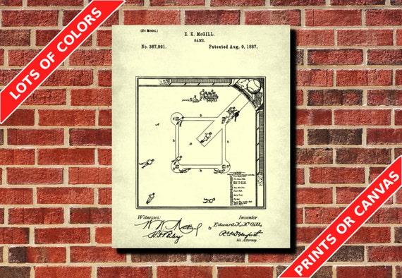 Baseball diamond patent print baseball poster baseball te gusta este artculo malvernweather Image collections