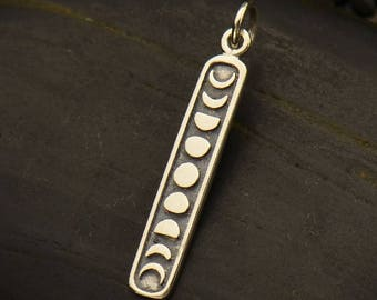 Sterling Silver Moon Phases Charm