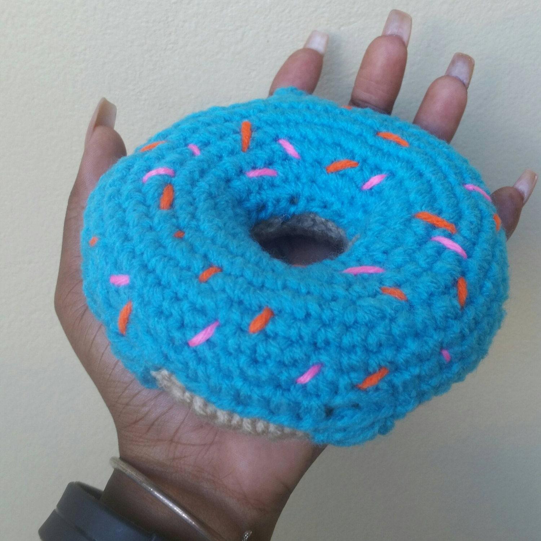 Amigurumi Keychain Loop : Crochet donut Keychain/keyring. Amigurumi donut