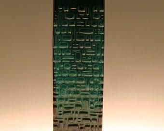 German Deutsch Gral Glass Dürnau Green Glass Vase by Emil Funke
