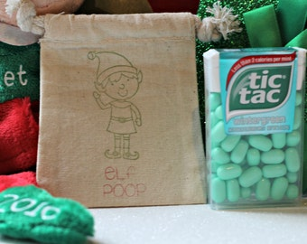 Stocking Stuffer - Personalized Elf -  Christmas Gag Gift - Elf Party Favor - White Elephant Gift - Gifts Under 5 - Elf Poop - Gift Under 15
