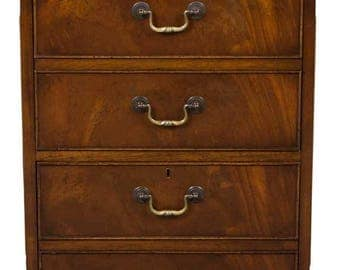 vintage mahogany two drawer file cabinet