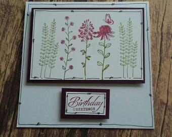 Birthday card, birthday, card, handmade card, handmade, birthday greetings, greetings cards , greetings, flowers
